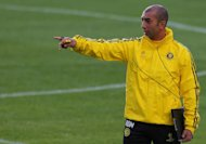Roberto Di Matteo during a training session at Stamford Bridge ahead of Chelsea's game with Juventus