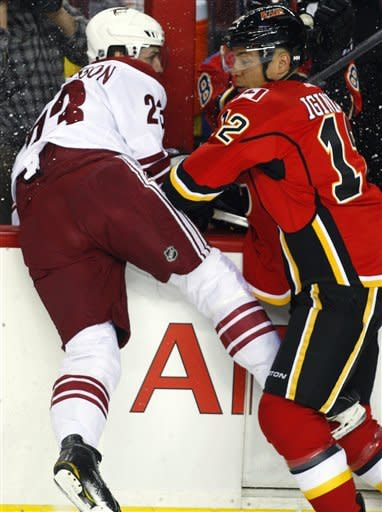 Coyotes beat Flames 4-3 in shootout