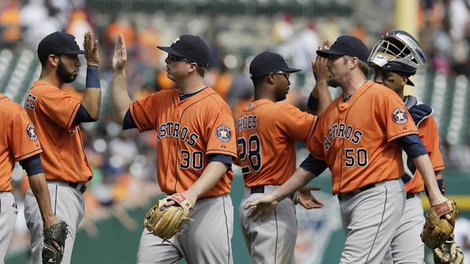 Astros beat Tigers 6-2 to snap Detroit's streak