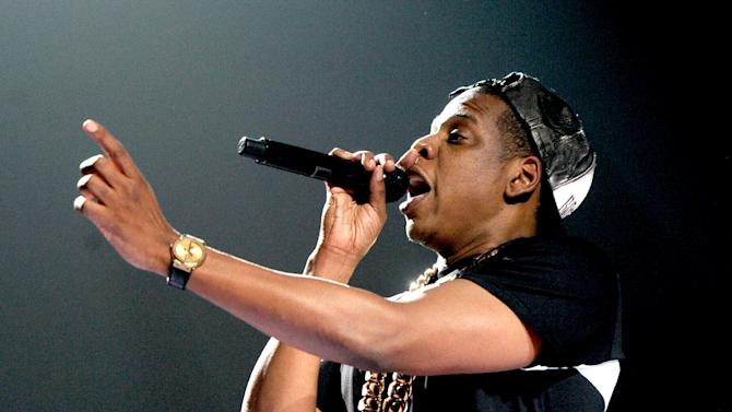 Rap artist Jay Z performs at The Staples Center in Los Angeles, California, in 2013