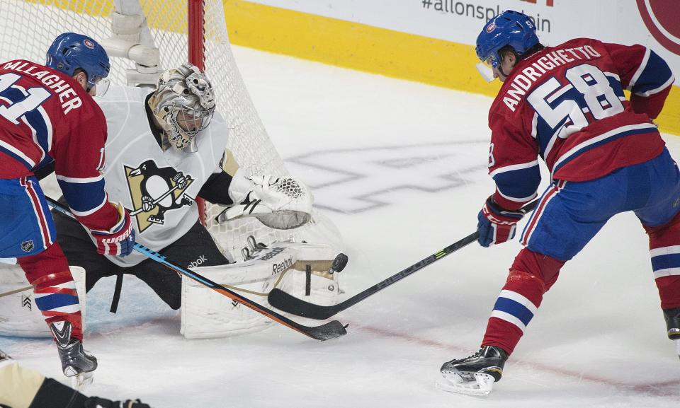 Crosby's OT goal lifts Penguins past Canadiens 2-1
