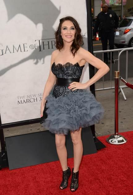 Carice van Houten arrives at the premiere of HBO's 'Game Of Thrones' Season 3 at TCL Chinese Theatre, Hollywood, on March 18, 2013 -- Getty Images