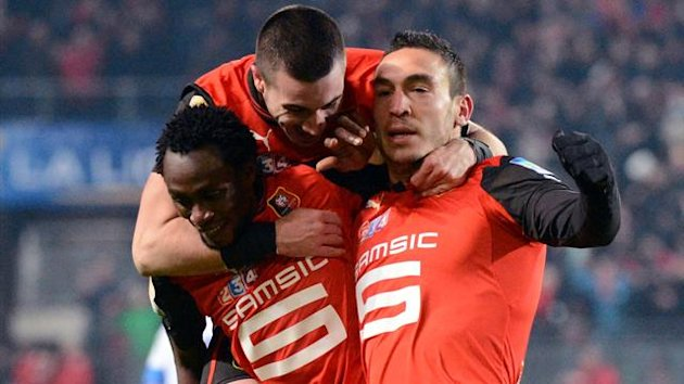 FOOTBALL 2013 Rennes players celebrate (AFP)