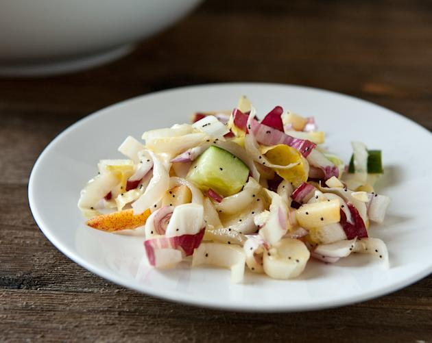 Apple Endive Salad with Poppy Seed Dressing