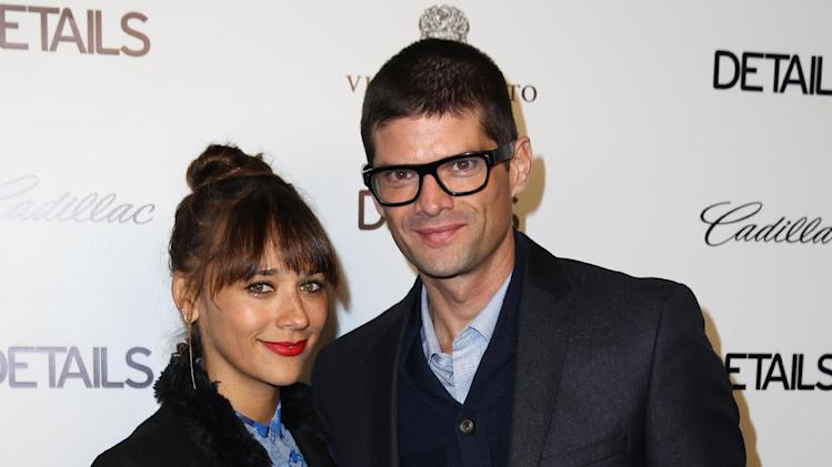 Rashida Jones, left, and Will McCormack arrive at the DETAILS Hollywood Mavericks Party hosted by Dan Peres at Soho House on Thursday, Dec. 5, 2013, in West Hollywood, Calif. (Photo by Matt Sayles/Invision for DETAILS Magazine/AP Images)