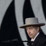 Bob Dylan performs during the second day of the Hop Farm music festival in Paddock Wood, Kent, on June 30, 2012
