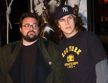 Kevin Smith and Jason Mewes at the Hollywood premiere of New Line Cinema's Blade: Trinity