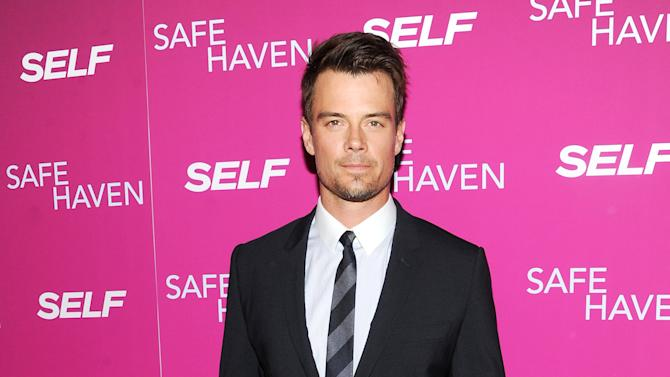 """FILE - In this Feb. 11, 2013 file photo, actor Josh Duhamel attends the premiere of """"Safe Haven"""" at the Sunshine Landmark in New York. The """"Transformers"""" star is hosting Nickelodeon's Kids' Choice Awards on Saturday, March 23, 2013, and says the ceremony's traditional dumping of the green stuff on celebrities isn't as bad as it looks. (Photo by Evan Agostini/Invision/AP, File)"""