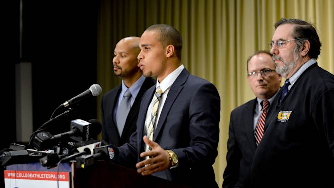 NCAA Football: New College Athletes Players Association-Press Conference