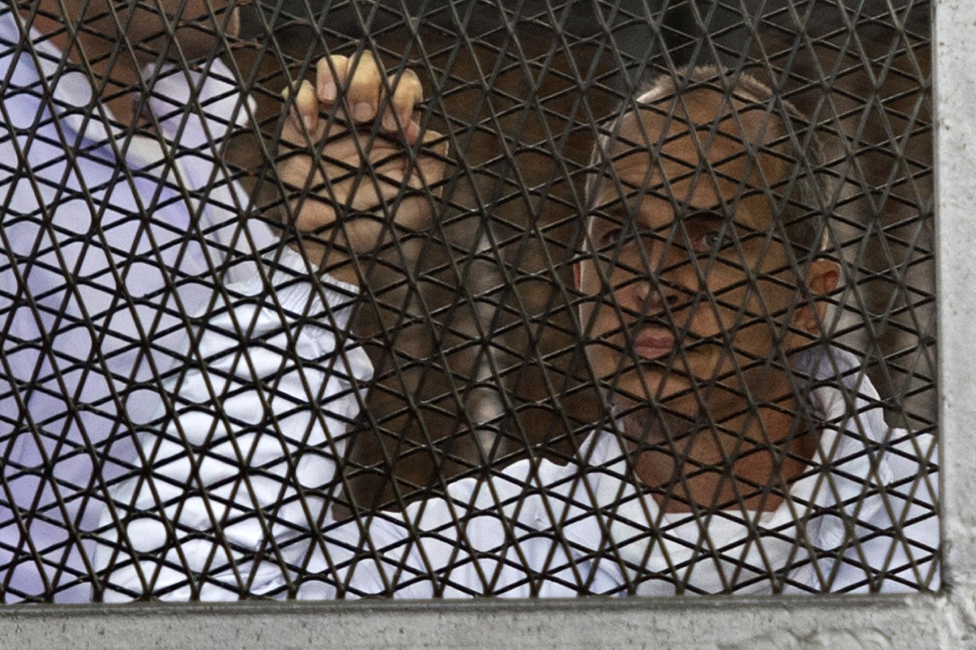 Greste and jailed journalist colleagues in Egypt