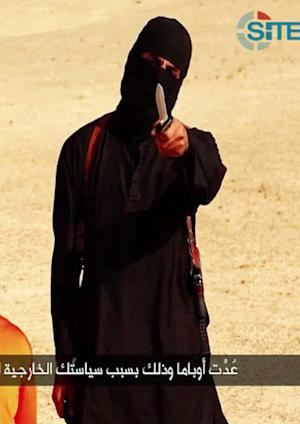 An image grab from a video released by the Islamic…