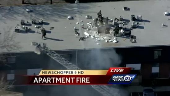 Fire hits apartment building in Northeast KC