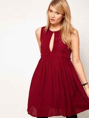 ASOS smock dress with keyhole detail