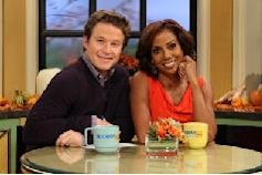 Holly Robinson Peete and Billy Bush are all smiles on the set of Access Hollywood Live in Burbank, Calif., on November 9, 2011   -- Access Hollywood