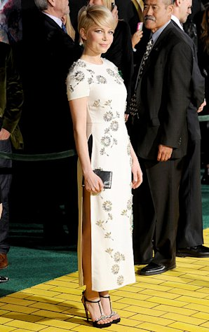 Michelle Williams Flashes Underwear in Super-High Slit Dress at Oz the Great and Powerful Premiere