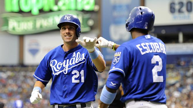Davis snaps skid; Royals top Rays 5-3