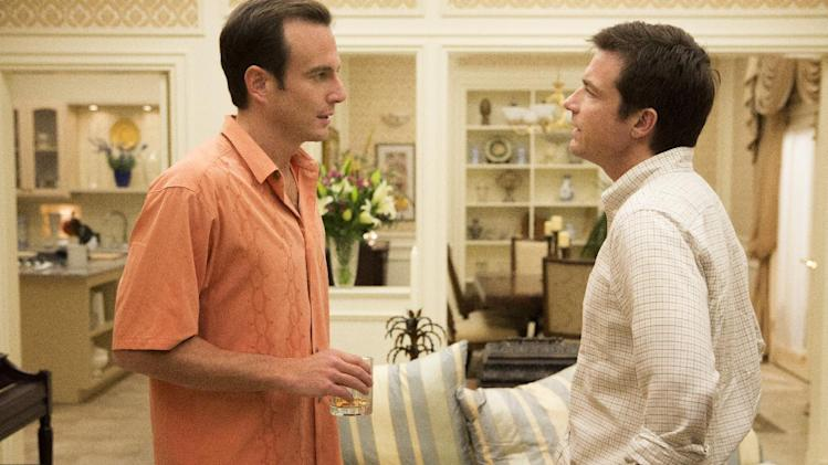 "This undated publicity photo released by Netflix shows Will Arnett, left, and Jason Bateman in a scene from ""Arrested Development,"" premiering May 26, 2013 on Netflix.  (AP Photo/Netflix, Michael Yarish)"