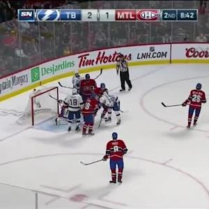 Carey Price Save on Ondrej Palat (11:17/2nd)