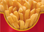 mcdonald's ad unbranded french fries