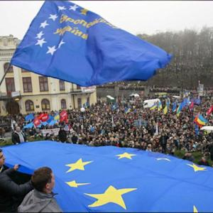 Mass Protests In Ukraine Against Government U-turn On EU
