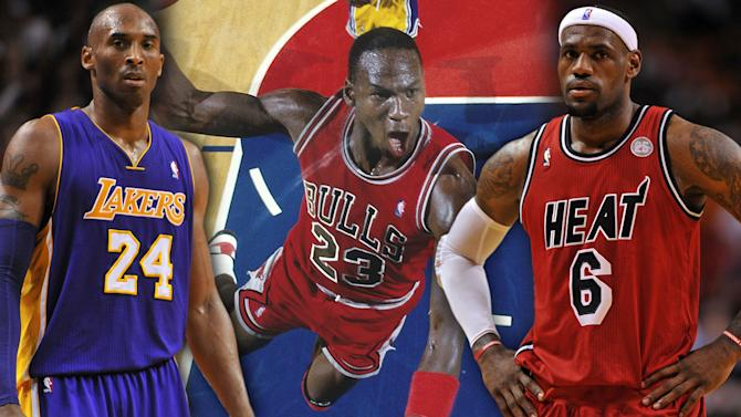 How do Kobe Bryant and LeBron James compare to MIchael Jordan?