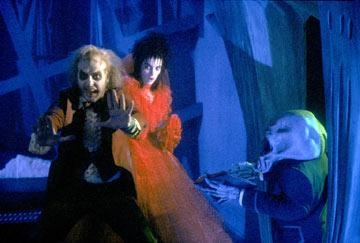 Michael Keaton and Winona Ryder in Geffen's Beetlejuice