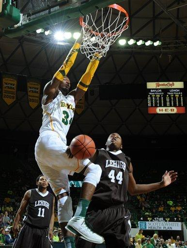 Austin gets 22 and hurt, No. 19 Baylor tops Lehigh