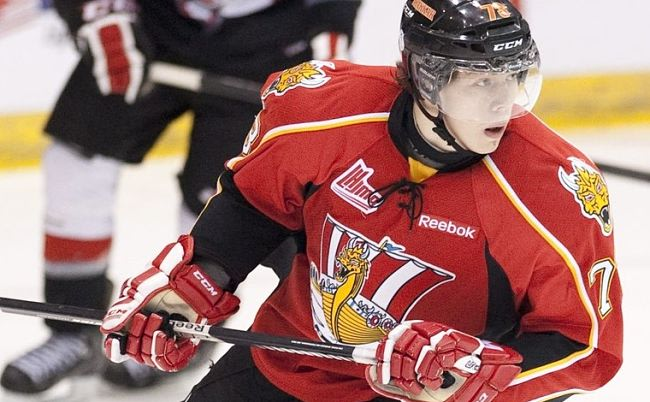 Reigning chl rookie of the year valentin zykov is affected by the