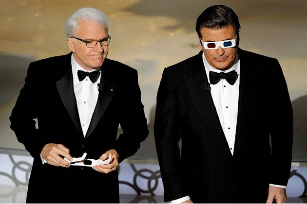 Co-hosts Steve Martin and Alec Baldwin onstage during the 82nd Annual Academy Awards held at Kodak Theatre on March 7, 2010 in Hollywood, California.