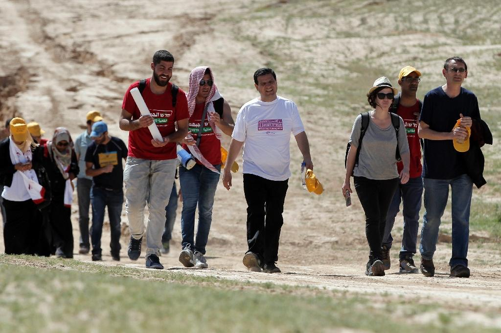 Top Arab Israeli MP begins 4-day march for Bedouins