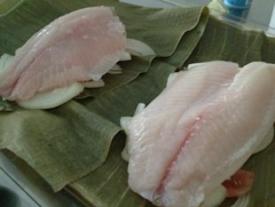 Fish ready to wrap and close