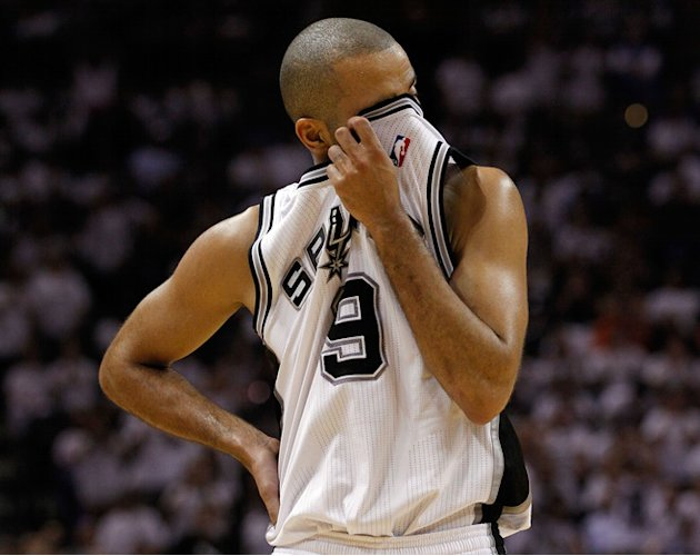 Tony Parker #9 Of The San Antonio Spurs Wipes Getty Images