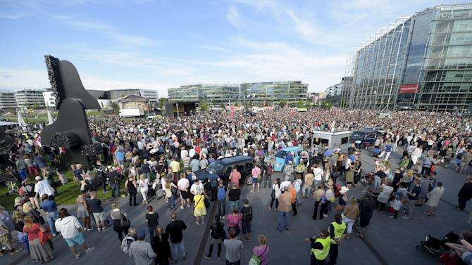 An estimated 15,000 people gathered for a demonstration against racism in Helsinki, Finland