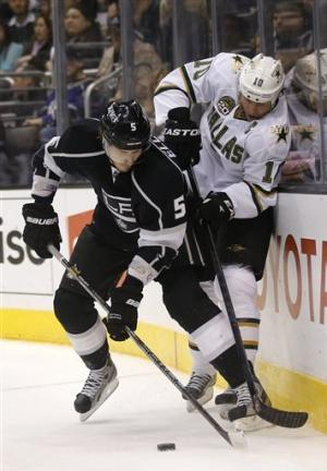 Jagr's 2 goals helps Stars beat Kings 5-2