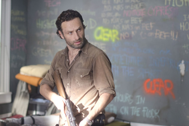 "Rick Grimes (Andrew Lincoln) in ""The Walking Dead"" episode, ""Clear."""