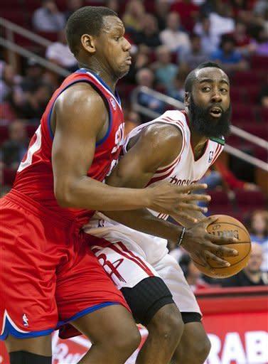 Harden scores 33 as Rockets beat 76ers 125-103