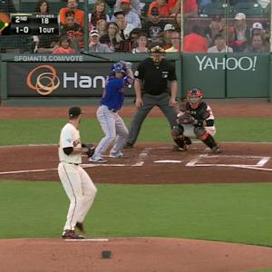 Heston turns two to end inning