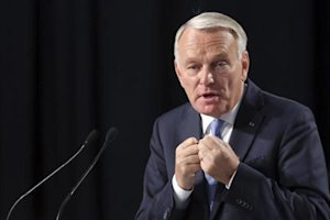 "France's Prime Minister Ayrault delivers a speech at the end the Socialist Party's ""Universite d'ete"" summer meeting in La Rochelle"