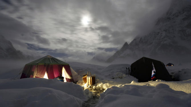 The snow-covered Concordia near the world's second highest mountain the K2 in Pakistan September 6, 2014. (REUTERS/Wolfgang Rattay)