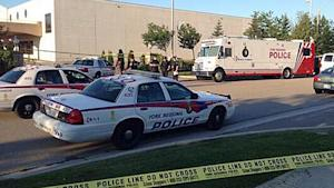 Police say two men were shot in a car outside a banquet hall in Vaughan, north of Toronto, early Friday.