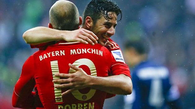 Claudio Pizarro and Arjen Robben, Bayern Munich (Reuters)