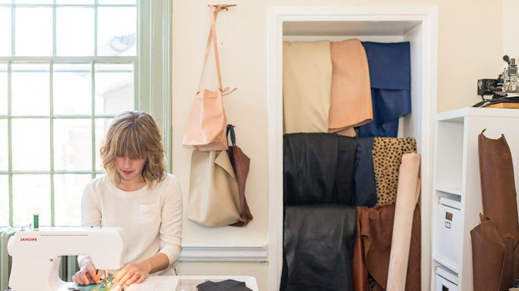 Open Studio: See Where Matine's Carolyn Misterek Makes Beautiful Leather Goods