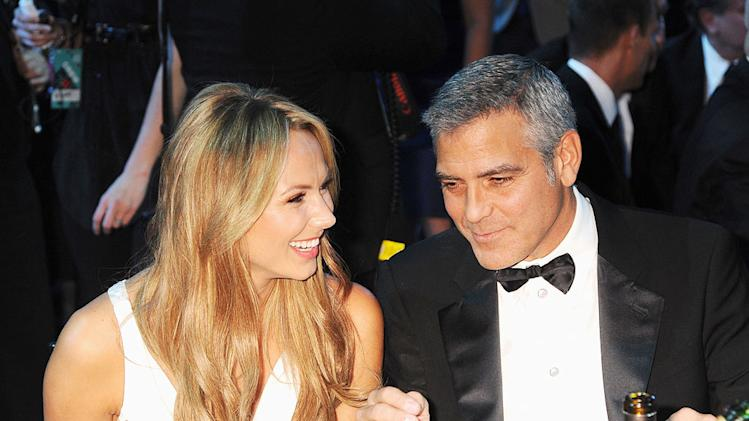 Critics Choice Awards 2012 Party pics Stacy Keibler George Clooney