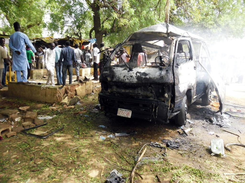 Nigerian police hunt mob who killed woman in suicide bombing scare