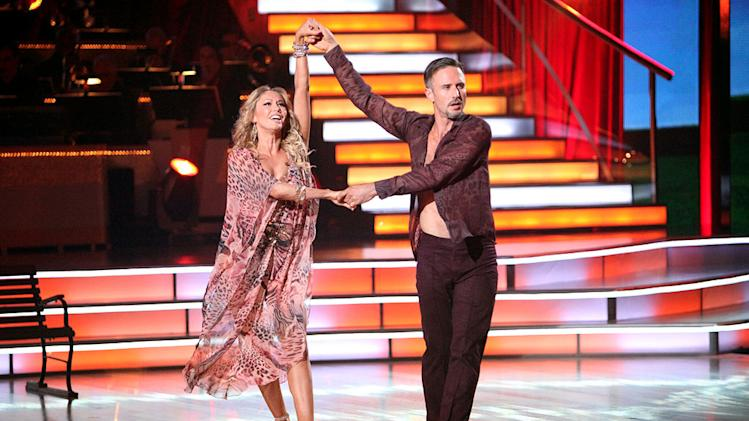 "Kym Johnson and David Arquette perform on ""Dancing With the Stars."""