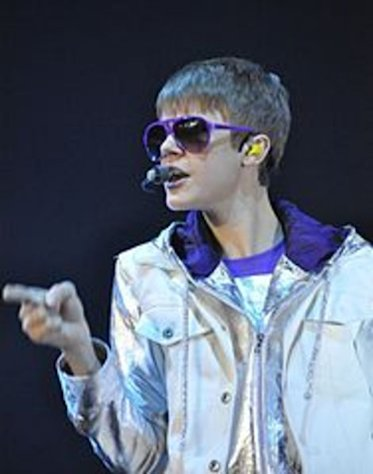 Justin Bieber at Sentul International Convention Center in West Java, Indonesia.