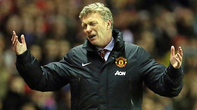 David Moyes despairs during Manchester United's defeat at Sunderland (AFP)
