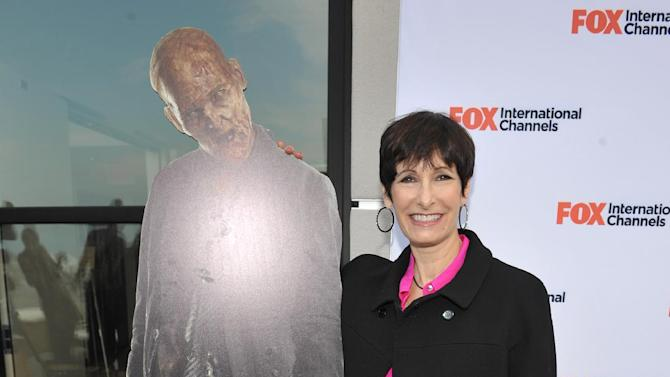 "COMMERCIAL IMAGE -  Gale Anne Hurd attends  AMC's ""The Walking Dead"" Fox Breakfast on Friday July 13, 2012, in San Diego. (Photo by John Shearer/Invision for AMC/AP Images)"