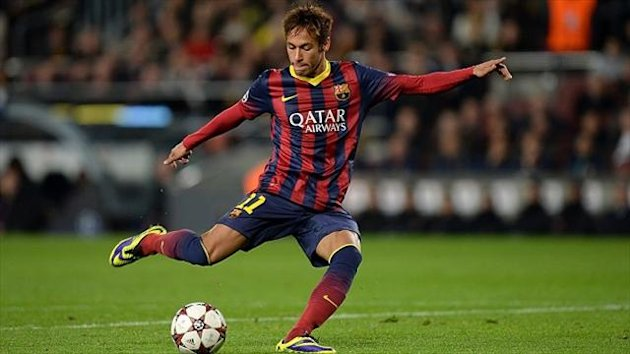 Neymar bagged a hat-trick in the rout