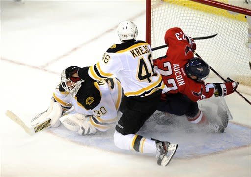 Bruins beat Capitals 4-3 in OT to force Game 7